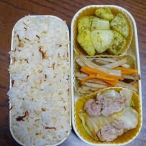 ある日のお弁当(豚肉と白菜の炒め物)