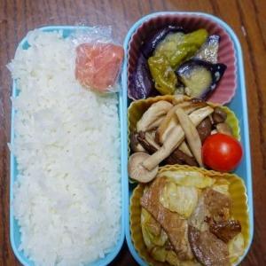 ある日のお弁当(豚肉とキャベツの炒め物)