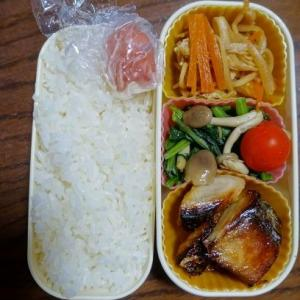 ある日のお弁当(鰆の西京焼き)