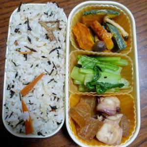 ある日のお弁当(タコと大根の煮物)
