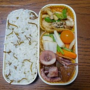 ある日のお弁当(イカと大根の煮物)