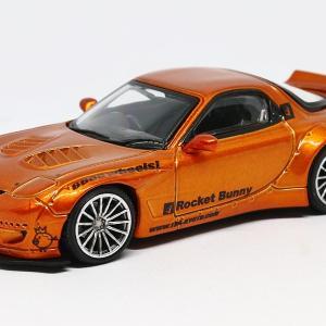 【イグニッションモデル】 1/64 Rocket Bunny マツダ RX-7 (FD3S) オレンジメタリック