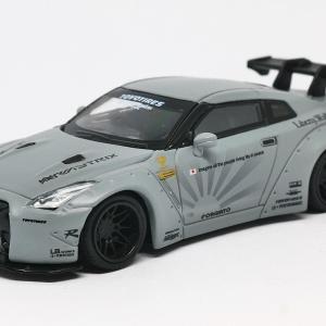【トゥルースケール】 MINI GT 1/64 LB★WORKS 日産 GT-R R35 GTウイング マットグレー