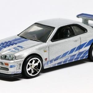 【ホットウィール】 プレミアム FAST & FURIOUS - 日産 スカイライン GT-R (BNR34)