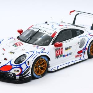【スパーク】 1/43 ポルシェ 911 RSR - Porsche GT Team - Winner GTLM class Petit Le Mans 2018 #911