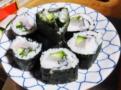 5月初旬のタイリクスズキの巻き寿司