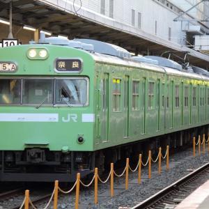 11月19日 奈良線103系と205系