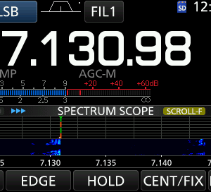 IC-7300 1.40にファームアップ