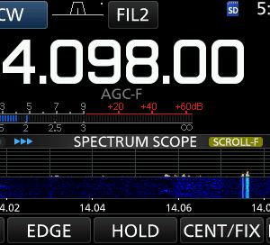 14Mhz 変なノイズ 次の日 朝5:35