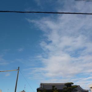 今日は青空、、、明日は雨?