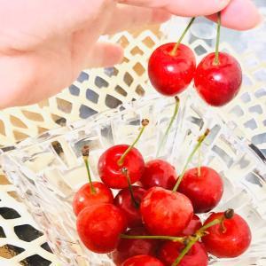 【転勤族と当選品☆新居に初のお届け物】うちごはんとさくらんぼ