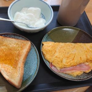 朝ご飯はしっかり食べます!お腹いっぱい(笑)