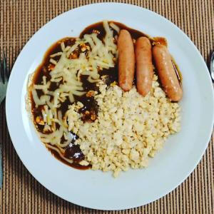 ライス風しらたき&豆腐、糖質10gと食物繊維のカレー♪