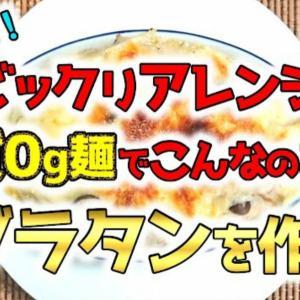 【YouTube動画】こんな使いかたあり?!紀文の糖質0g麺で「グラタン」を作る!