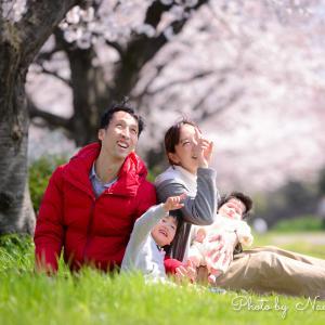 桜と一緒に家族の今を残そう♡