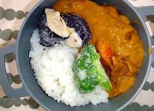 10/28 野菜トッピングカレー弁当