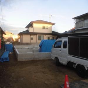 今朝の現場画像(9.20月)南吉田、北吉田、余戸、石手新築現場。