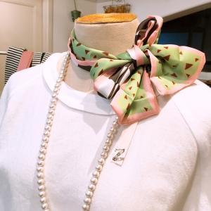 春色リボンスカーフ