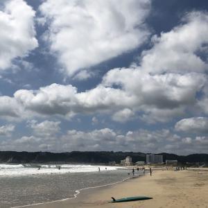 台風のビーチ
