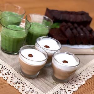 ショコラフルーツケーキとカフェラテプリン