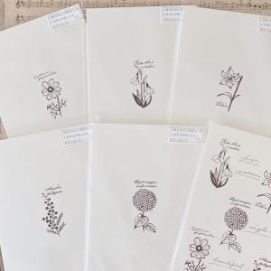 ゴム版はんこ*植物図鑑シリーズポストカード