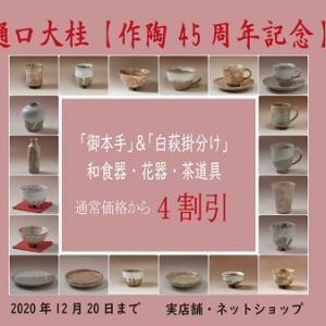 樋口大桂・作陶45周年記念と新しいサービスのご案内