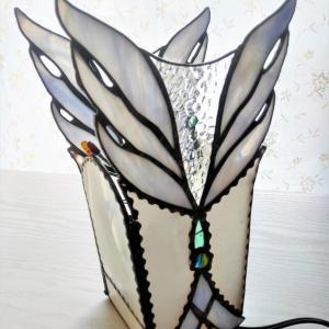 白鳥ステンドグラスランプ