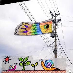 電柱鯉のぼり