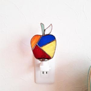 お休みランプ「モザイクりんご」