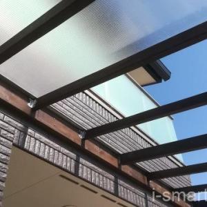 玄関に雨よけのひさしをDIYで作ろう!中空ポリカ屋根④
