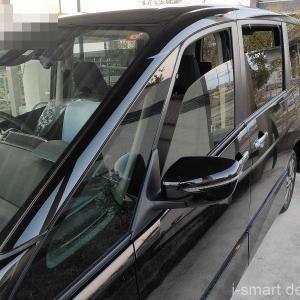 新車オプションのドアバイザーを自分で取り付けてみよう。C27セレナDIY