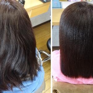 縮毛矯正の実験