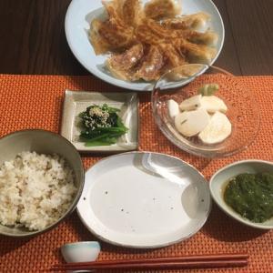 餃子と鶏と蕪と白菜。