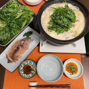 冬は鍋。野菜モリモリ&イカ