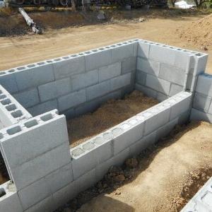 工房、ブロック基礎30