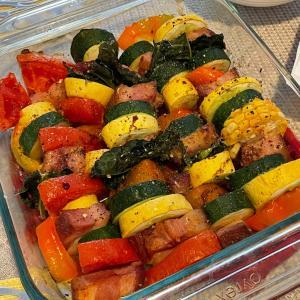 お友達の家でランチ♡見栄えの良い夏野菜料理♡