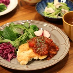 【レシピあり】鶏胸肉トマトソースソテー