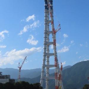 地上230mの上空で作業する人たち(撮影:9月15日)