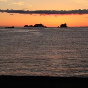 大白海岸の日の出景色(撮影:9月15日)
