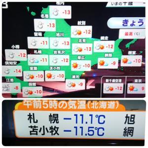 大寒波が 来るぅーーー!( ̄□    !!