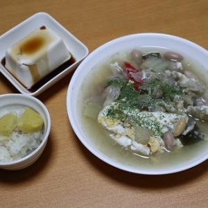 卵入り野菜スープ
