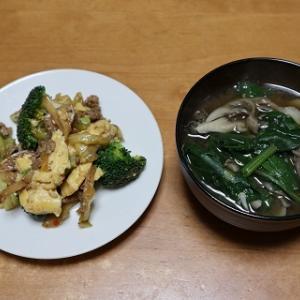 回鍋肉に卵とブロッコリーを足しただけ