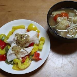 鶏むね肉とカラフル野菜のマスタードソース