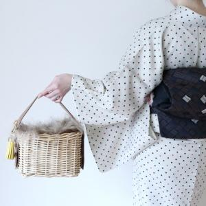 【vlog】カジュアル着物に似合うバッグの選び方