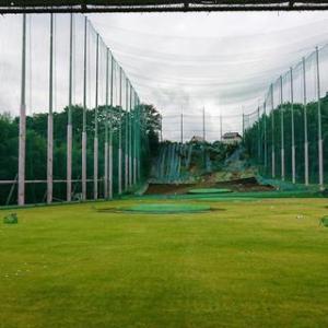 松井田に降りてゴルフレンジ