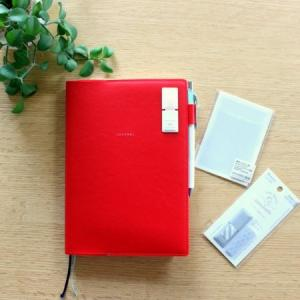【手帳文具】オトナ付箋でワンポイント&無印でポケットを増やす