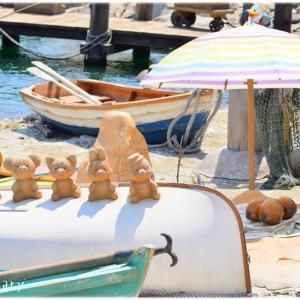 *TDS:可愛すぎる砂浜ダッフィーたち♪