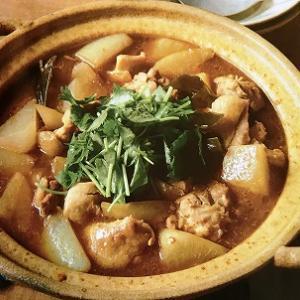 大根と鶏肉の和風カレー鍋