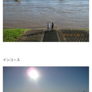 """【まとめ/追記】台風19号""""、関東の河川敷ゴルフ場、冠水。"""