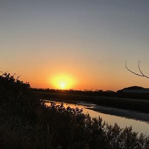 糸島泉川の夕日